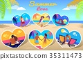 Couple in Love on Sea Photos on Beach Background 35311473