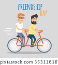 Friends Celebrating Friendship Day Vector Concept 35311618