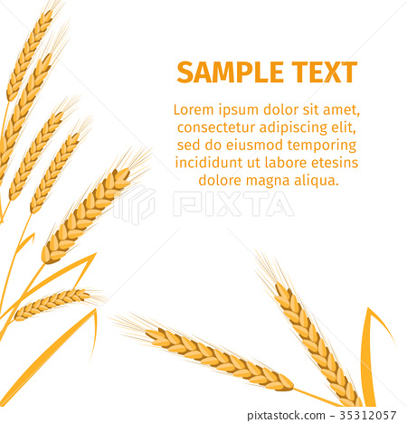 Spikes on White Background and Place for Text 35312057