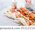 cheese, cake, strawberry 35312114