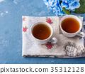컵, 배경, 꽃 35312128