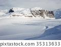 mountain, winter, landscape 35313633