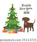 christmas, vector, tree 35313725
