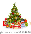 Vector Christmas Fir Tree 35314098