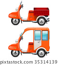 Vector Orange Scooters Set 2 35314139
