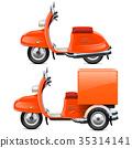 Vector Orange Scooters 35314141