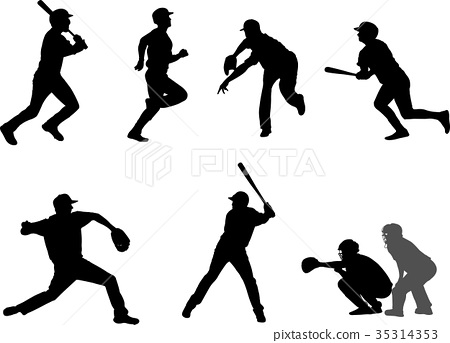 baseball silhouettes set 7 35314353