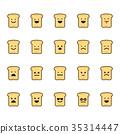 Emotions icon set 35314447