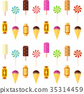 Sweets and pastries vector background. 35314459