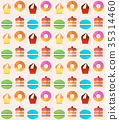 Sweets and pastries vector background. 35314460