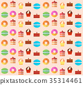 Sweets and pastries vector background. 35314461