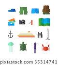 Summer objects vector set for travel and adventure 35314741