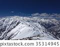 북 알프스 · 爺ヶ岳에서 원하는 눈의 다테야마 · 剱岳 35314945