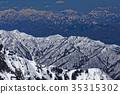 북 알프스, 키타알프스, 잔설 35315302
