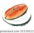麵包 烤熟的麵包 夾心麵包 35316522