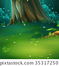 Vector illustration of background forest glade 35317250
