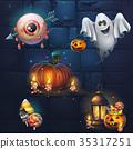 vector lantern halloween 35317251
