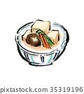凍乾豆腐 燉 開水焯過的食物 35319196