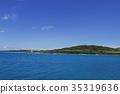 오키나와, 바다, 푸른 하늘 35319636