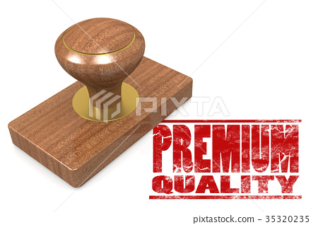 Red premium quality wooded seal stamp 35320235