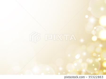 반짝이 비누 방울 노란색 기반 35322863
