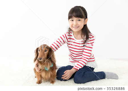 Girls and pets 35326886