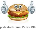 Burger Food Mascot Cartoon Character 35329396