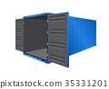 cargo container vector 35331201