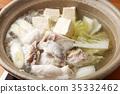 煮河豚 鍋裡煮好的食物 河豚 35332462