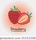 딸기, 과일, 과실 35333306