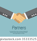 Agreement Business Vector and Handshake. 35333525