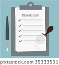 Check List Approve Vector Illustration. 35333531