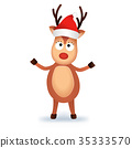 reindeer,christmas,vector 35333570