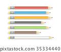 pencil, color, vector 35334440