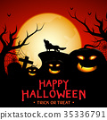Halloween background vector design. 35336791