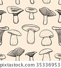 Seamless pattern with mushrooms. 35336953