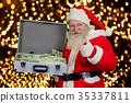 christmas, banknotes, man 35337811