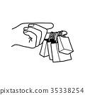 vector, holding, shopping 35338254