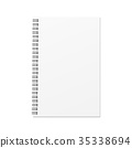 Vector blank hard cover book template. 35338694