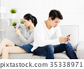 people, couple, sofa 35338971