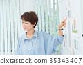 นักธุรกิจหญิงประชุมกราฟิก 35343407