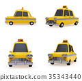 taxi taxis yellow 35343440