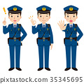 Police officer face pose 35345695