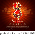 dice, casino, vector 35345969