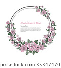 Flower frame of rose. 35347470