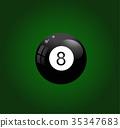 Pool ball vector illustration on white 35347683
