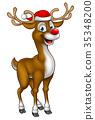 reindeer,christmas,vector 35348200