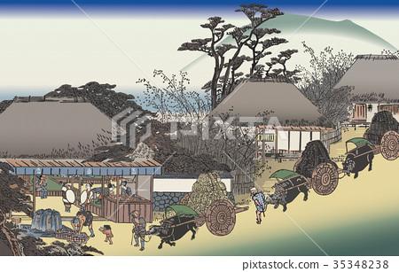 53 Stations of the Tokaido / Otsu, Shiga Prefecture 35348238