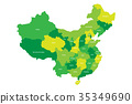 Regional map of administrative provinces of China 35349690