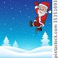 Climbing Santa Claus topic image 1 35351693